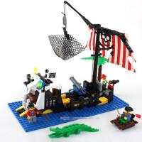 海盗船系列积木玩具拼装 8-12塑料拼插益智儿童礼品 6岁男童SN6148
