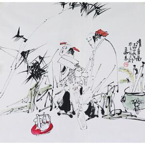 王西京《清音图》当代著名画家