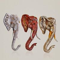 家居装饰品动物头壁挂 创意欧式象头壁饰客厅电视背景墙挂件