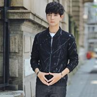 新款夹克男外套薄款春秋韩版2018大学生青少年修身棒球领长袖上衣