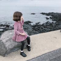 女童连衣裙2018秋冬新款韩版加绒小女孩公主裙长袖宝宝丝绒洋气裙