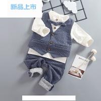 2018童装儿童宝宝秋春装套装男童4婴儿1衣服2小孩0-3周岁时尚潮衣