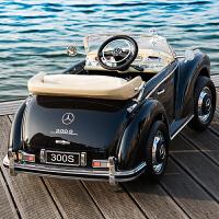新款经典复古老爷车可坐人儿童电动车男女小孩四轮遥控童车音乐早教宝宝玩具汽车