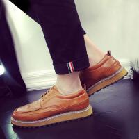 DAZED CONFUSED布洛克男鞋秋季新款低帮休闲皮鞋男雕花复古英伦弯潮鞋男鞋子