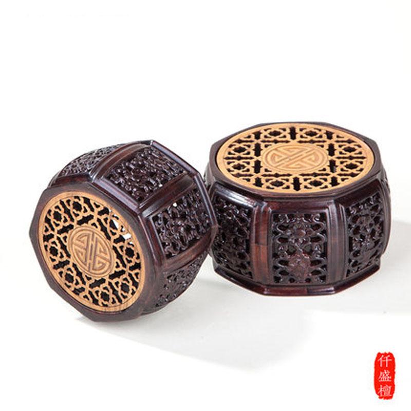 紫砂壶木托底座雕刻工艺品摆件花瓶花盆托盘底座实木底座