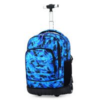 儿童拉杆书包中学生大容量男孩小学生大轮双肩包防水女初中旅行包