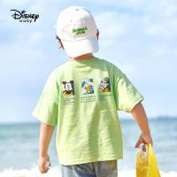 6.21超品【4件2.2折:32.7元】迪士尼童装男童针织短袖T恤2021夏季新款儿童帅气运动半袖上衣潮