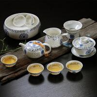 蜂窝镂空陶瓷功夫茶具茶壶茶青花瓷玲珑茶具套装