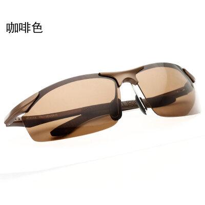 潮男铝镁太阳眼镜驾驶偏光镜男士偏光太阳镜男司机墨镜