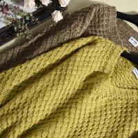 韩版冬季新款女装毛衣V领毛衣时尚破洞胖妹妹休闲上衣 LY8637