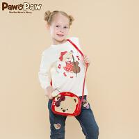 【1件3折 到手价:119元】Pawinpaw宝英宝卡通小熊童装秋冬男女通用款T恤