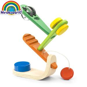 [当当自营]泰国Wonderworld 音乐树 拼插组合乐器 木质玩具
