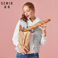 森马羽绒马甲女冬季新款简约立领短款外套韩版加厚甜美显瘦