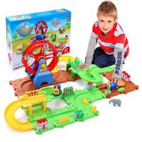 小火车套装轨道车智力宝宝电动汽车儿童玩具2-3-4-6岁男孩