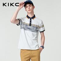 kikc短袖Polo衫男2018夏季新款韩版韩版休闲短袖T恤