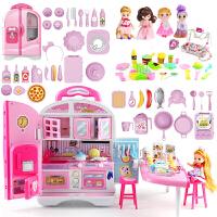 芭比娃娃套装大礼盒别墅城堡女孩公主儿童爱莎公主玩具生日礼物36 30厘米以下