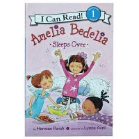 英文原版 Amelia Bedelia Sleeps Over I can read 2第二阶段绘本