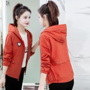 【满299减200 618开始了】Fanru梵如 2018春季新款女装时尚风衣女短款韩版修身百搭显瘦淑女装少女学生短外套女棒球服女装 F255-1805