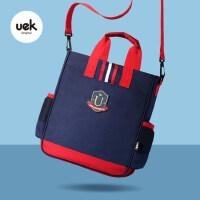 小学生补习袋便携儿童手提袋子可爱补课包斜挎包美术袋拎书包