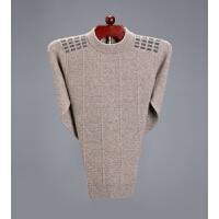 季男士羊绒衫圆领纯山羊绒套头毛衣中年宽松加厚羊毛针织衫