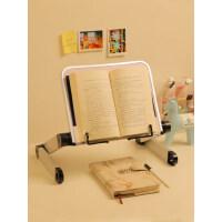 多功能阅读架看书架可调节伸缩简易床上书立架小学生用夹书器可升降儿童立式翻书考研神器读书架平板ipad支架