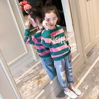 女童打底衫春秋中大童春装2018新款t恤长袖纯棉上衣儿童卫衣韩版