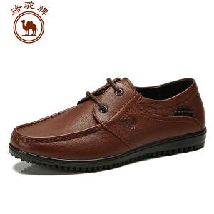 骆驼牌男鞋 春季新款休闲皮鞋 系带男鞋轻便舒适
