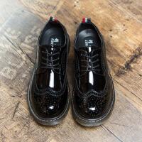 DAZED CONFUSED 潮牌英伦复古布洛克雕花大头小皮鞋夏季男鞋黑色休闲鞋韩版漆皮潮