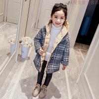 女童冬装棉衣2018新款儿童呢子外套羽绒棉袄两件女孩洋气童装套装