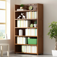书架落地简易实木书柜子置物架儿童桌上收纳架多层省空间家用学生
