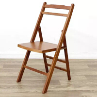 实木便携可折叠椅子 简易家用省空间竹椅 户外躺椅靠背电脑午休椅