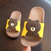 夏季新款儿童男童女童凉拖鞋卡通中大童小孩宝宝家居拖鞋