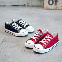 儿童帆布鞋一脚蹬男童女童休闲板鞋小孩宝软底春季新