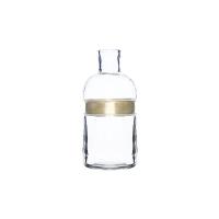 【网易严选清仓秒杀】手工吹制 金属束边玻璃花瓶