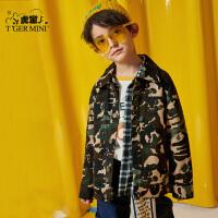 【2件3折到手价:119.7元】小虎宝儿男童中长款外套2020春装新款儿童洋气风衣中大童韩版童装