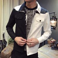 新款青年小伙韩版牛仔衣短款外套修身潮男士矮小个子夹克S小码XS