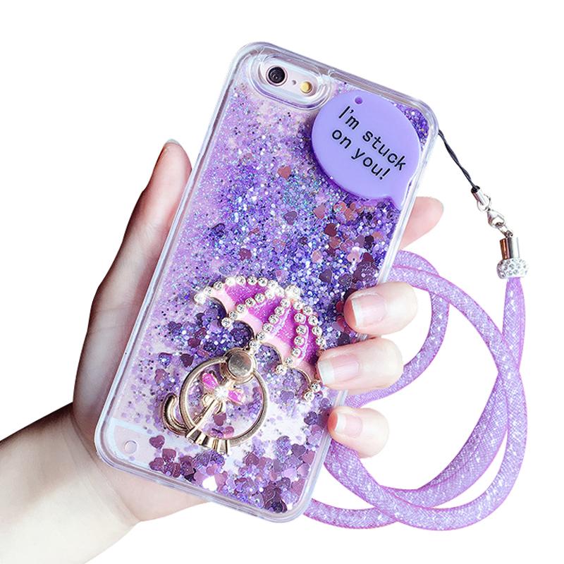 iphone6手机壳女款7plus水钻壳苹果8硅胶套6s流沙壳