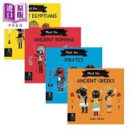 【中商原版】遇见 Meet the 科普绘本4册 the Ancient Greeks/Pirates 遇见系列 儿童科