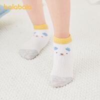 巴拉巴拉儿童袜子男童女童网眼袜夏季薄款撞色柔软舒适洋气三条装