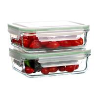 Glasslock 三光云彩韩国钢化玻璃带保温包饭盒便当盒GL17B收纳盒微波炉保鲜饭盒