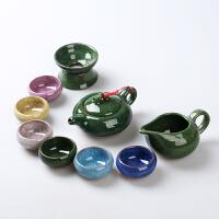 冰裂茶具套装功夫茶具套装陶瓷茶具茶杯茶道茶壶套装家用简约礼品