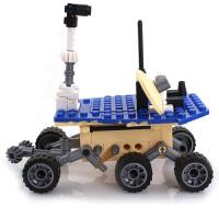 积木拼插塑料拼装积木 航天飞机发射基地 火星探测组