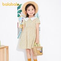 【券后预估价:111.9】巴拉巴拉童装儿童裙子女童连衣裙夏装2021新款小童宝宝公主裙碎花