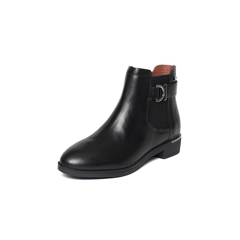 Belle/百丽冬专柜同款油皮牛皮女短靴BMT40DD6