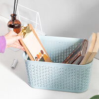 【两件8折 三件75折】MINISO名创优品编织收纳筐家用桌面玩具零食整理储物篮浴室洗漱篮