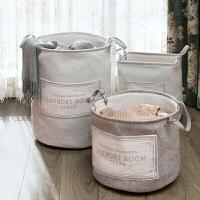 布艺桶型脏衣篮 可折叠带提手方形玩具收纳筐