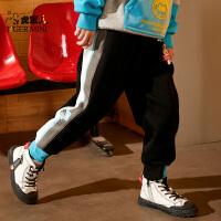 【2件3折:62.7元】儿男童裤子春秋款2021儿童长裤中大童洋气休闲潮牌