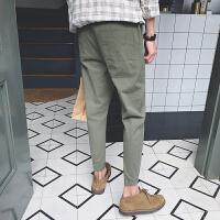 2018新款男裤子潮流个性大口袋日系休闲束脚裤学生韩版小脚九分裤