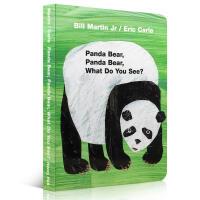 英文原版进口 廖彩杏Panda Bear, Panda Bear, What Do You See? Board Bo