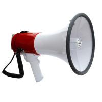 谋福 50瓦功率扩音器喇叭 手持麦喊话录音 警报喇叭 裸机(需配用8个1号电池)